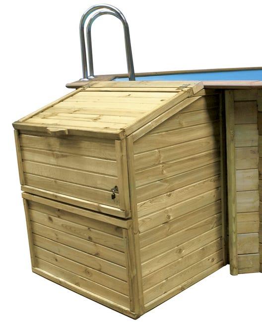 Coffre De Filtration Coffre De Filtration En Pin Pour Piscine Bois Octogonale H Leroy Merlin