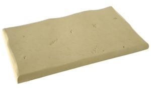 Margelle Crécy en pierre reconstituée ton pierre, L.50 x l.30 x Ep.3.5 cm
