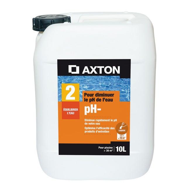 Réducteur De Ph Piscine Axton Liquide 10 L 10 Kg