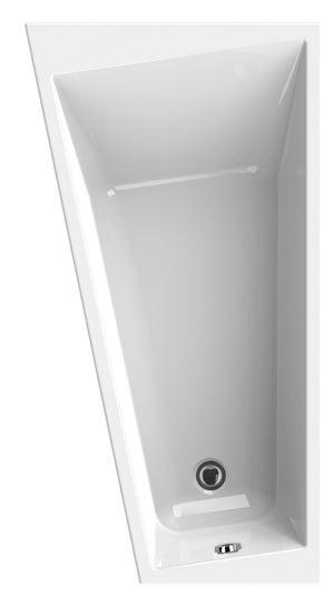 Baignoire asymétrique gauche L.170x l.90 cm blanc, SENSEA Premium design