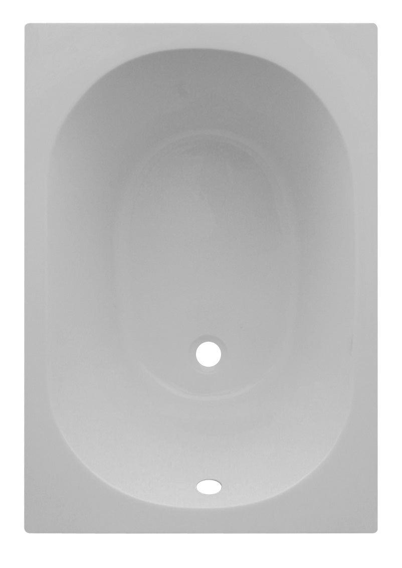 Baignoire Rectangulaire L 105x L 70 Cm Blanc Sensea Access Confort Leroy Merlin