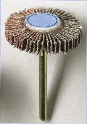 Image : Roue à lamelles, DREMEL, 28mm grain 80