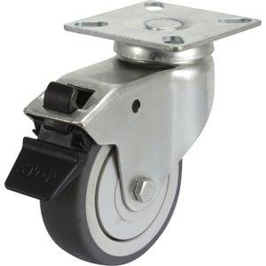 Image : Roulette pivotante à freins à platine, Diam.75 mm