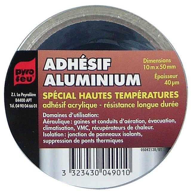 Ruban Adhesif Aluminium 10 M Pyrofeu Leroy Merlin