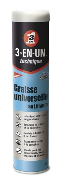 Image : Graisse universelle au lithium en cartouche, 400 g 3-EN-UN TECHNIQUE
