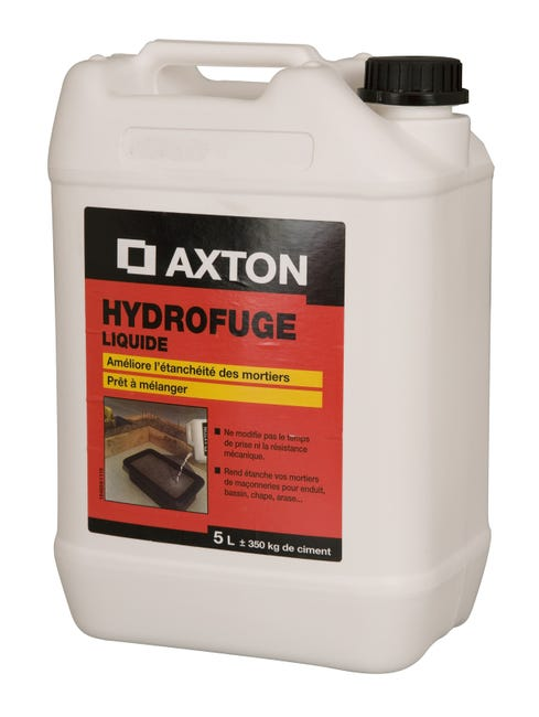 Hydrofuge Pour Mortier Axton 5 L Blanc Leroy Merlin