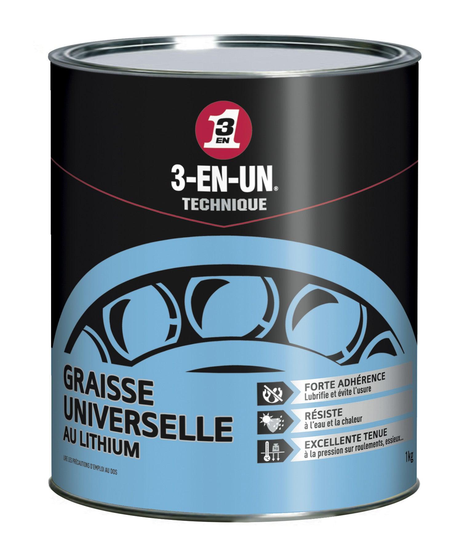 Graisse Universelle Au Lithium En Pot 1000 G 3 En Un Technique