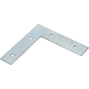 Image : 1 équerre d'assemblage plate acier zingué HETTICH, l.100 mm