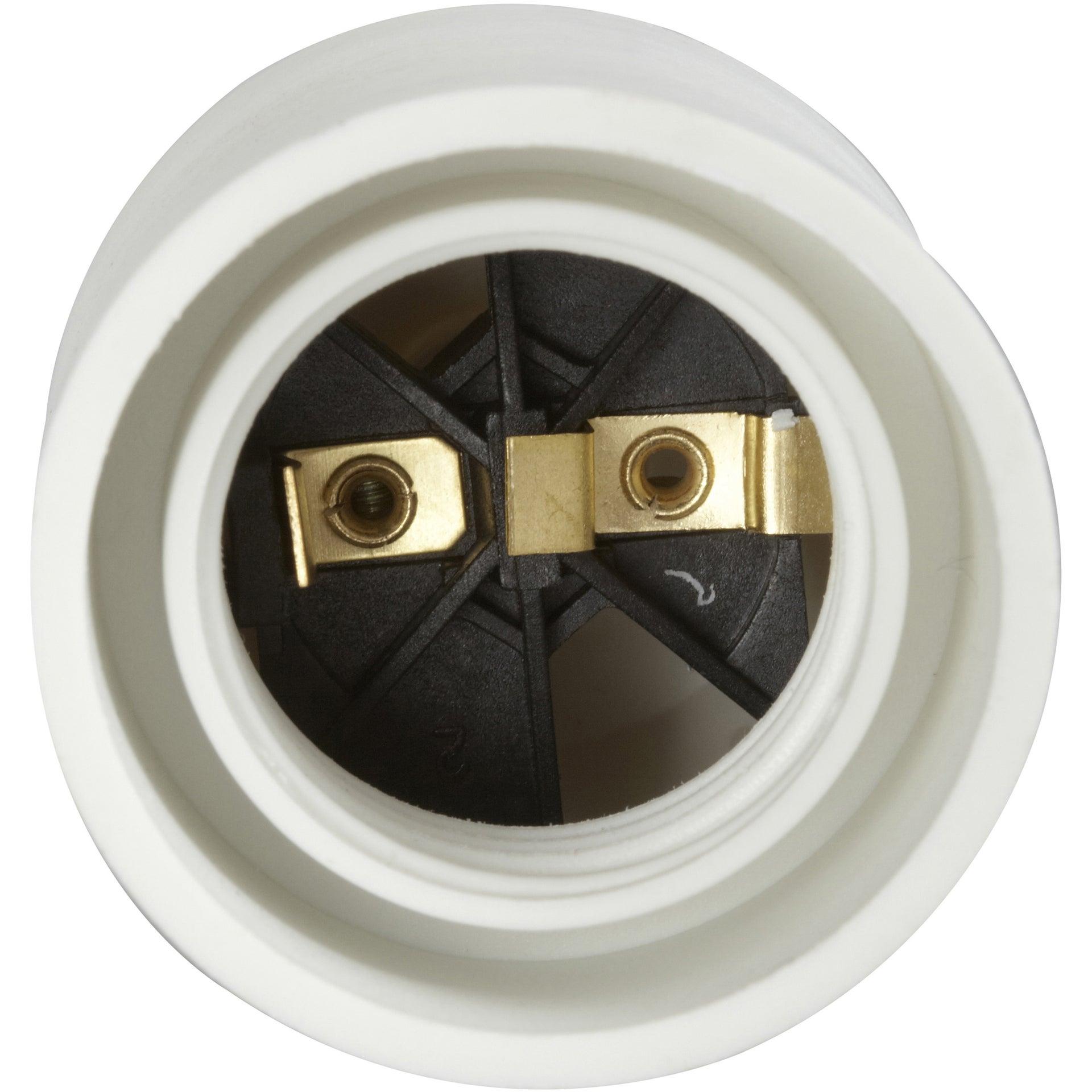 Douille électrique à Vis E27 Polyamide Blanc