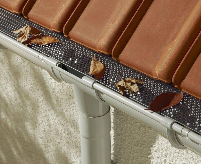 Grillage Stop Feuilles Et Attaches Pour Gouttiere Protege Gout Pp 6m X 15cm Fix Leroy Merlin