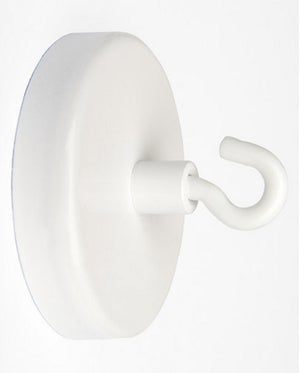 Aimant crochet blanc, Diam.47 mm