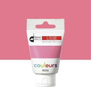 Image : Peinture pochoirs rose satin MAISON DECO Peinture pochoir couleur 0.06 l
