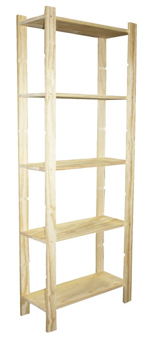Etagere Pin 5 Tablettes L 65 X P 28 X H 170 Cm Leroy Merlin
