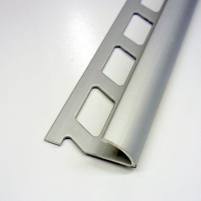 1 4 De Rond Carrelage Sol Aluminium Anodise L 2 5 M X Ep 10 Mm