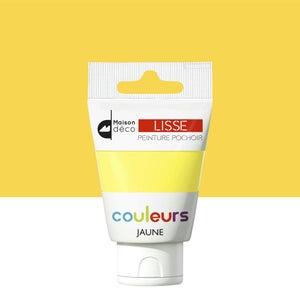 Image : Peinture pochoirs jaune satin MAISON DECO Peinture pochoir couleur 0.06 l