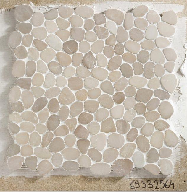 Galets sol et mur Ricochet ivoire
