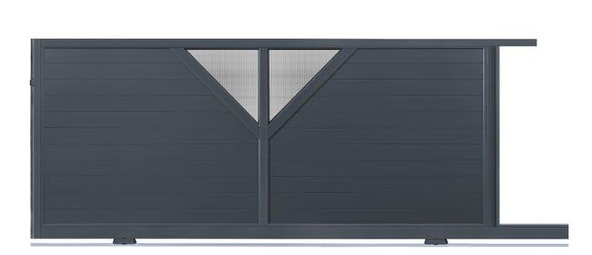 Portail Coulissant Aluminium Manhattan L 350 X H 160 Cm Leroy Merlin