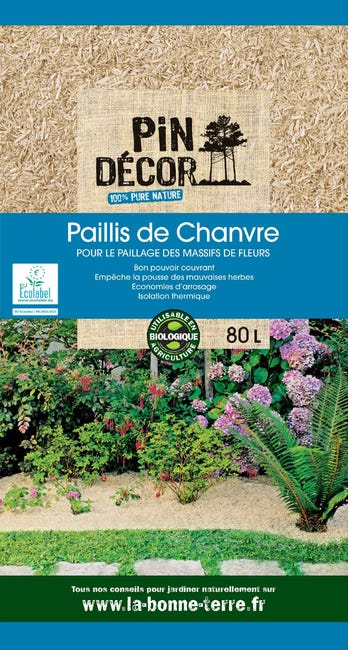 Paillis De Chanvre Pin Decor 80 L Leroy Merlin