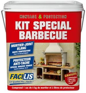Image : Kit mortier Facilis pour barbecue fixe