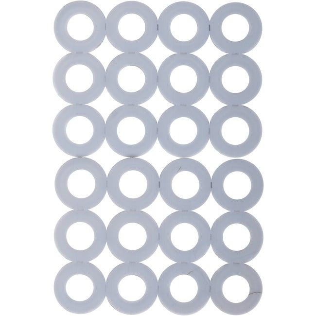 Lot De 24 Rondelles En Plastique Haute Densité Ptfe 3m