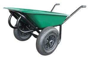 Image : Brouette roue gonflée acier peint vert Confort ALTRAD, 100 l / 250 kg