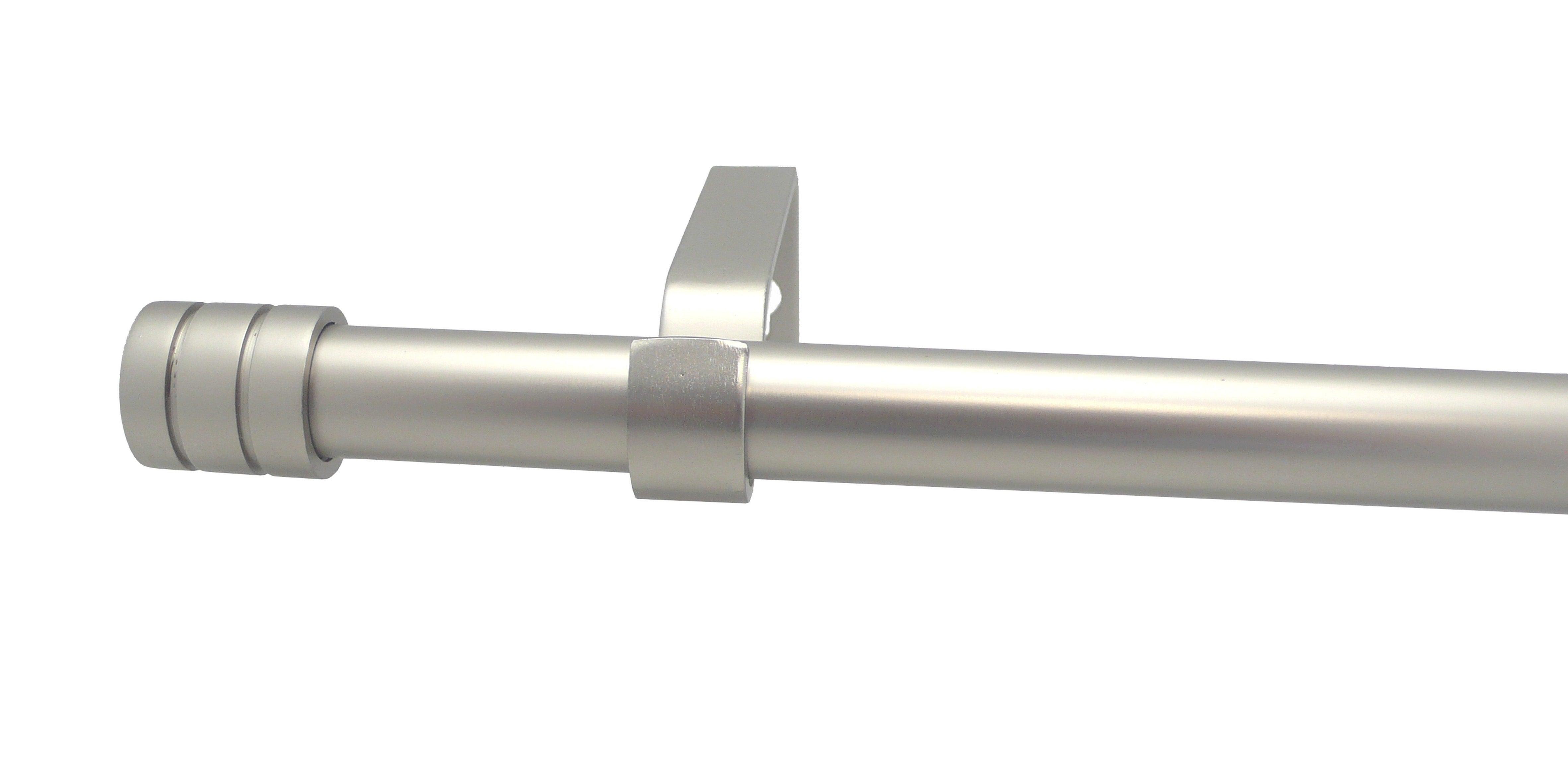 Branche Blanche // 110-210cm Miroir Poli D/écoration Robuste pour Votre fen/être Facile /à Installer Longueur r/églable Gcurtain Kit Tringle /à Rideau Double Diam/ètre 16-19mm 44-82 5//8-3//4