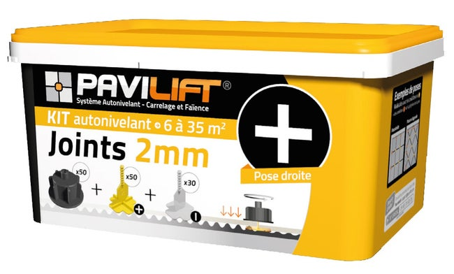 Kit Autonivelant Croisillons Et Cadrans Pavilift En Croix 2 Mm