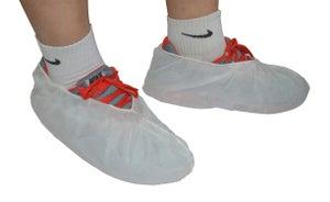 Lot de 10 couvre-chaussures jetables, blanc taille unique