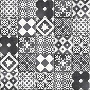 Mosaique Sol Et Mur Gatsby Decor Noir Et Blanc 6 17 X 6 17 Cm
