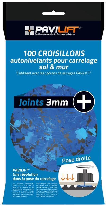Kit De 100 Croisillons Pavilift En Croix 3 Mm