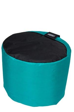 Image : Pouf de sol bleu Mini-curl, 40 x 40