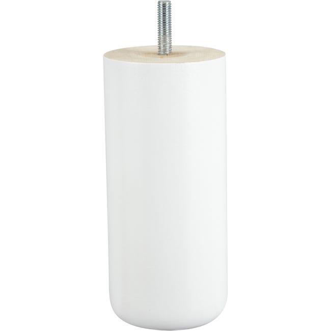 Pied Meuble Cylindrique Fixe Hetre Laque Blanc Leroy Merlin