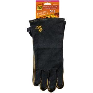 Gant anti-chaleur noir 300 degrés 100% cuir