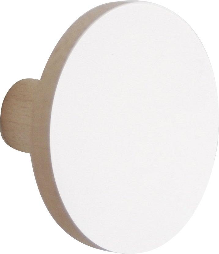 Patere 1 Tete Blanc Disco Leroy Merlin