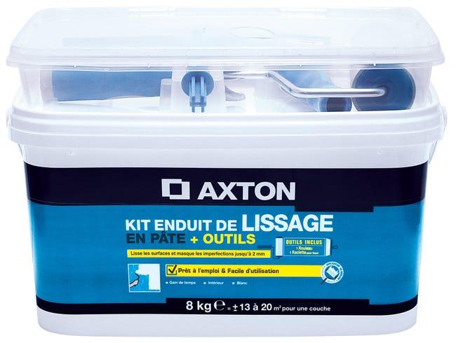 Kit Enduit De Lissage Avec Outils Axton 8 Kg En Pate Pour Mur Interieur Leroy Merlin
