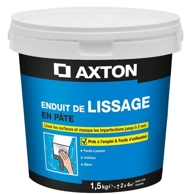 Enduit De Lissage Axton 1 5 Kg En Pate Pour Mur Interieur Leroy Merlin