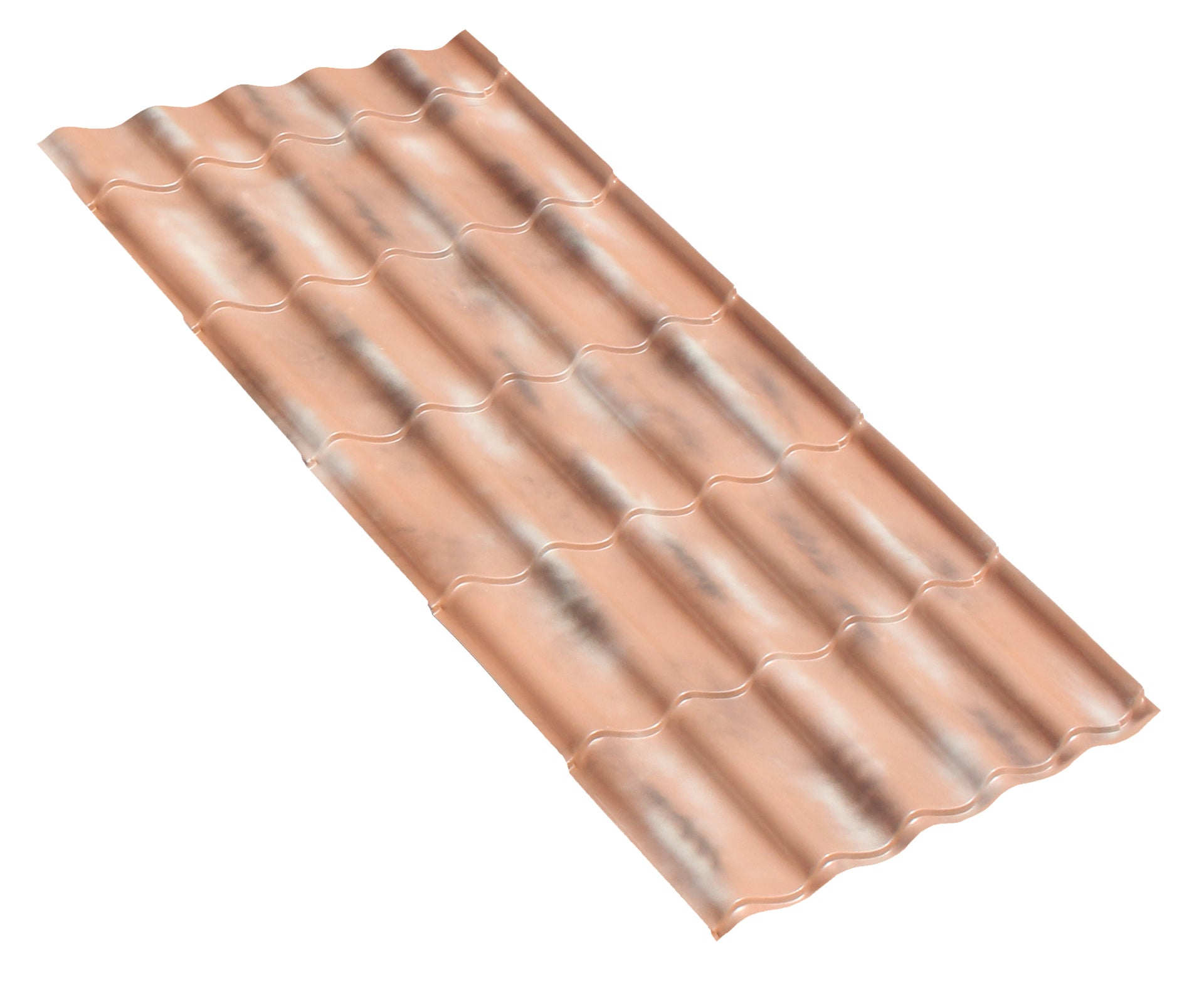 Plaque de toiture imitation tuile pvc sienne antique l.1 ...