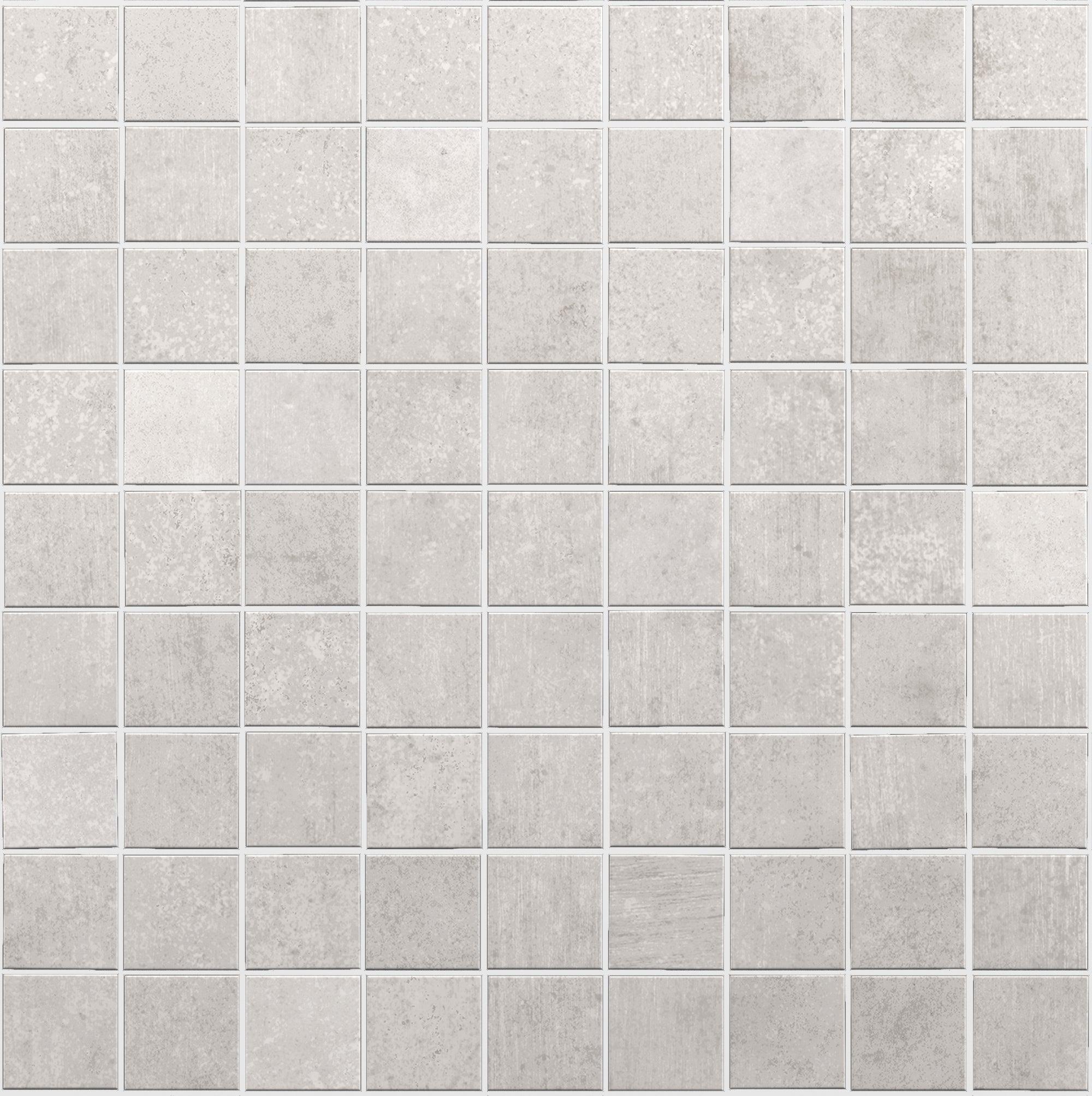 Céramique Mosaïque Gris chiné Mur Sol Carrelage Salle de bains miroir 10 nattes es-41152 /_ F