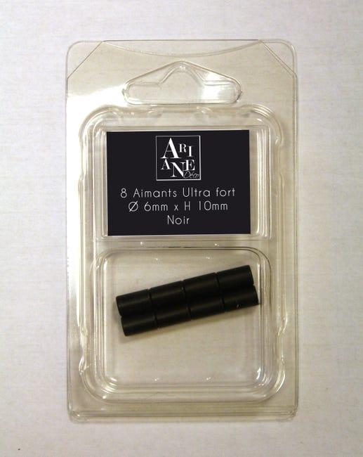 8 Aimants Neodymes Noir Diam 6 Mm X 10 Mm Leroy Merlin