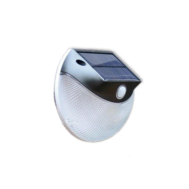 Applique Avec Detecteur De Mouvement Solaire Tilton 200 Lumen Noir Inspire Leroy Merlin