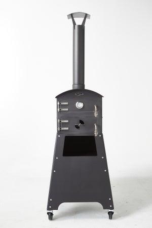 Four VULCANO 1 en acier noir, l.62 x L.66 x H.194 cm