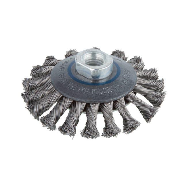 Brosse Metallique Conique Pour Multimatiere Wolfcraft Diam 100 Mm 2153000 Leroy Merlin
