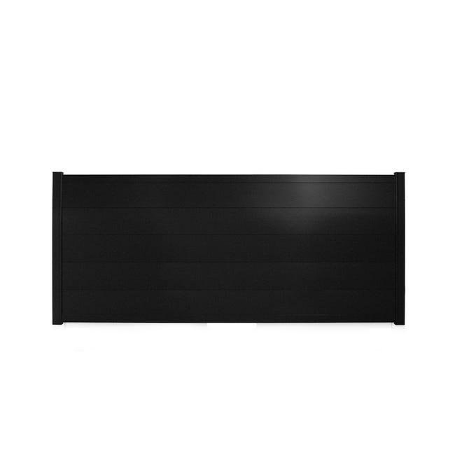 Portail Coulissant Aluminium Hezo Noir Sable Naterial L 412 X H 170 Cm Leroy Merlin