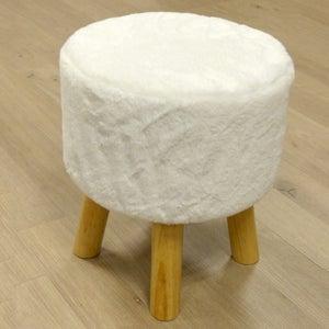 Image : Pouf Dolli, blanc l.30 x H.35 cm