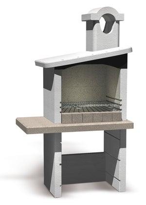 Barbecue En Béton Pierre L54 X L180 X H190 Cm