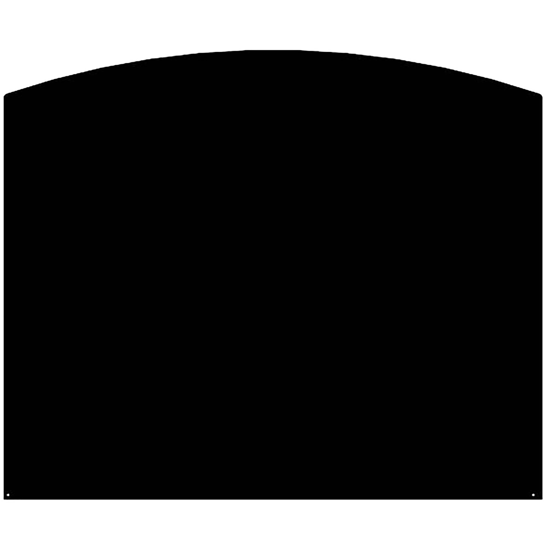 Plaque de protection sol noire LE MARQUIER Demi-ronde, l.8 cm x H.8 cm