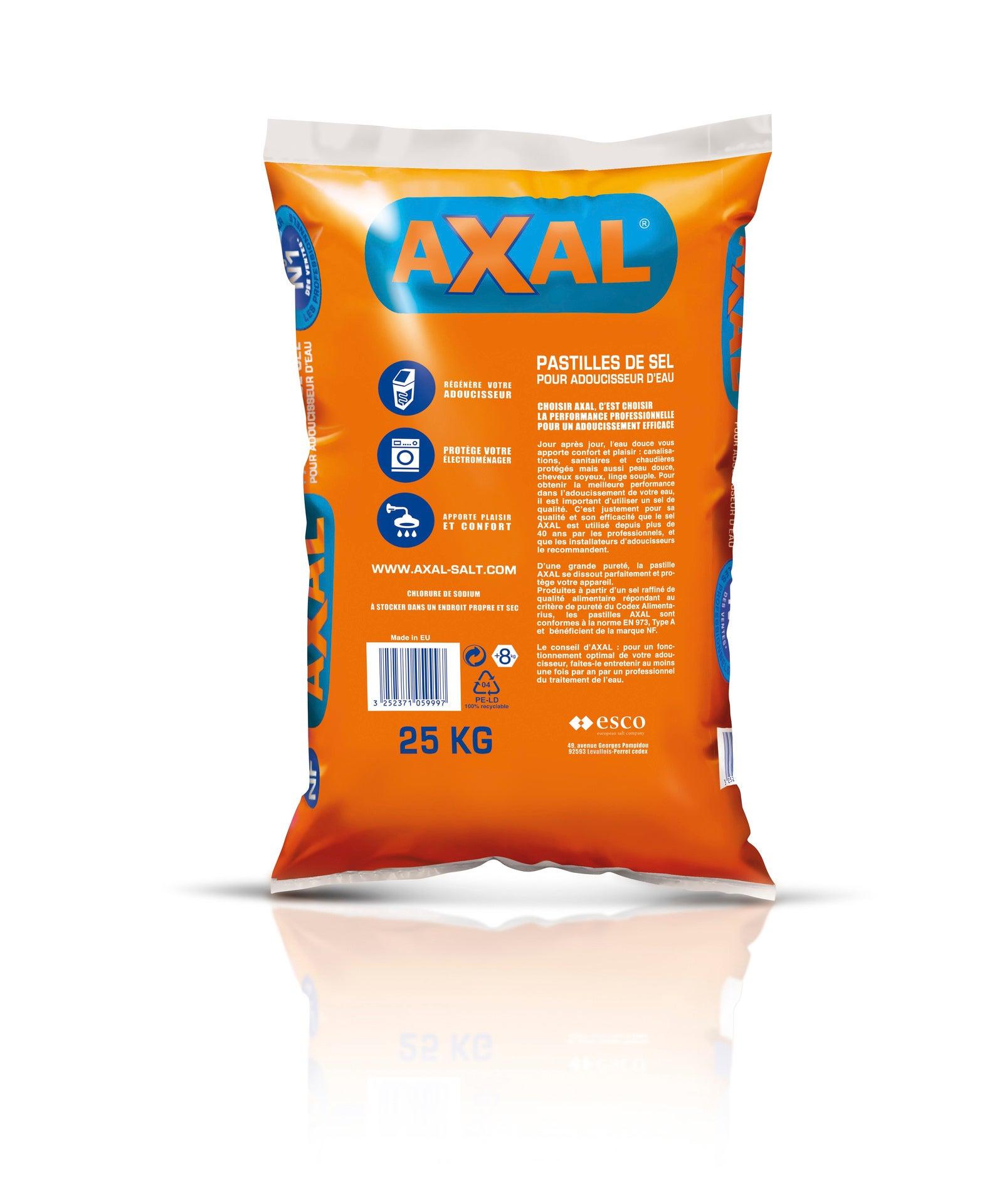 Sel pour adoucisseur 25 kg AXAL | Leroy Merlin