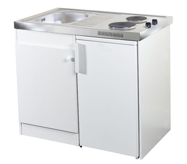 Kitchenette Electrique Blanc Spring H 92 5 X L 100 X P 60 Cm Leroy Merlin