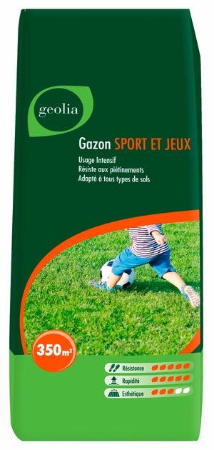 Image : Gazon sport et jeux GEOLIA, 10 kg, 350 m²