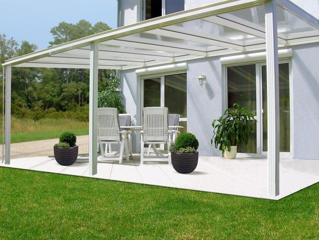 Couverture De Terrasse Adossee Exclu Aluminium Couleur A Choisir 22 M Leroy Merlin